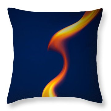 Flame Throw Pillow by Darryl Dalton