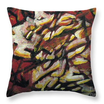 Flame-hearted Throw Pillow
