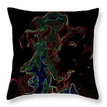 Throw Pillow featuring the photograph Flame IIi by Carlee Ojeda