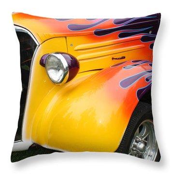 Flame Job Throw Pillow by Terry Fleckney