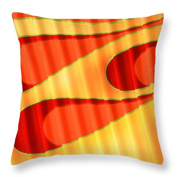 Flame Me Throw Pillow by Joe Kozlowski