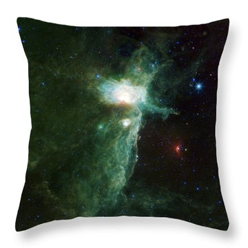 Flame Nebula Throw Pillow by Adam Romanowicz