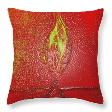 Flame Of Deepawali Throw Pillow