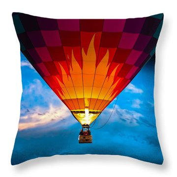 Flame With Flame Throw Pillow by Bob Orsillo