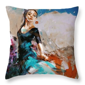 Flamenco 42 Throw Pillow