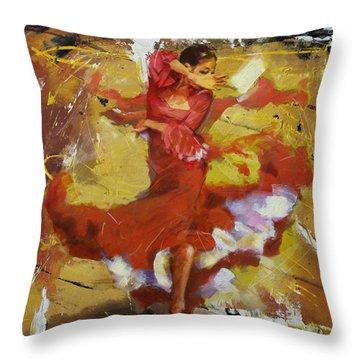 Flamenco 44 Throw Pillow