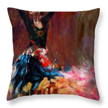 Flamenco 50 Throw Pillow