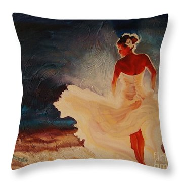 Flamenco Allure Throw Pillow