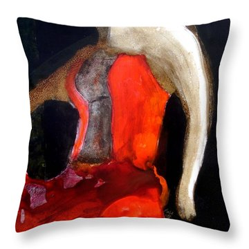 Flamenco Caliente Throw Pillow