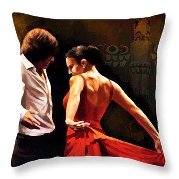 Flamenco Dancer 012 Throw Pillow by Catf