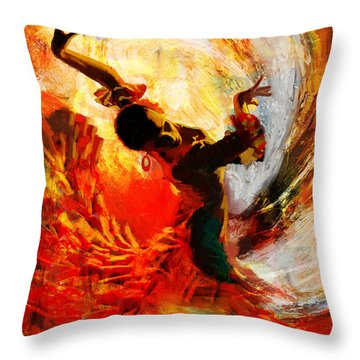 Flamenco Dancer 021 Throw Pillow