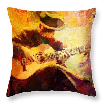 Flamenco Dancer 028 Throw Pillow by Catf