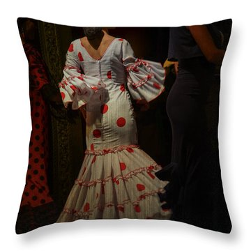 Flamenco Dancer #14 Throw Pillow by Mary Machare