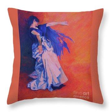 Flamenco-john Singer-sargent Throw Pillow