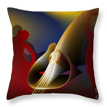 Throw Pillow featuring the digital art Flamenco by Leo Symon