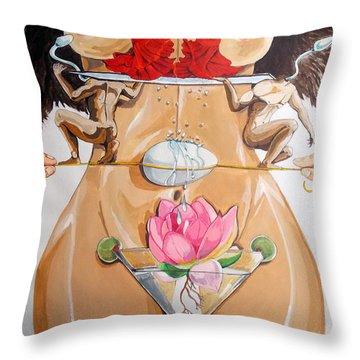 Throw Pillow featuring the painting Flamenco Of Fertility  by Lazaro Hurtado