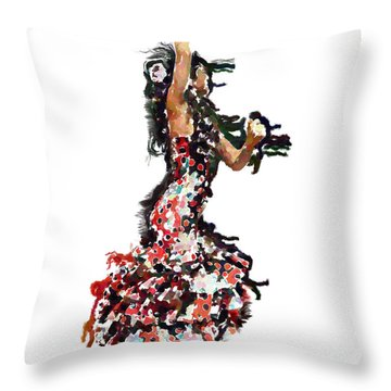 Flamenco Series #12 Throw Pillow by Mary Machare
