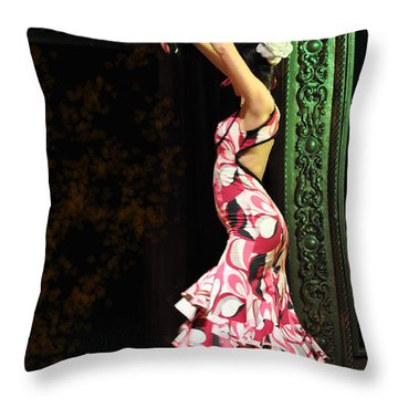 Flamenco Series #8 Throw Pillow by Mary Machare