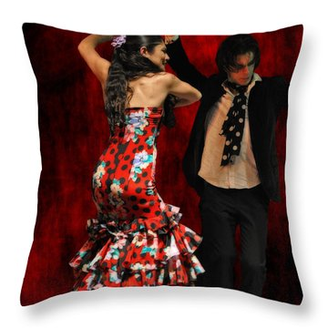 Flamenco Series #9 Throw Pillow by Mary Machare