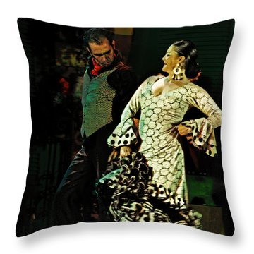 Flamenco Series No 11 Throw Pillow by Mary Machare
