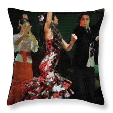 Flamenco Series No 13 Throw Pillow by Mary Machare