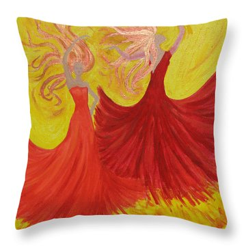Throw Pillow featuring the painting Flamenco by Stephanie Grant