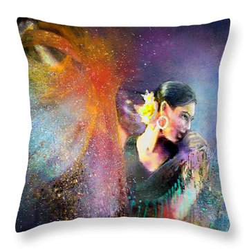 Flamencoscape 04 Throw Pillow by Miki De Goodaboom