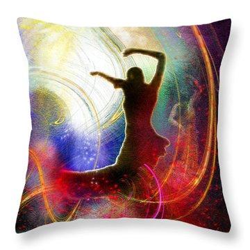 Flamencoscape 16 Throw Pillow by Miki De Goodaboom