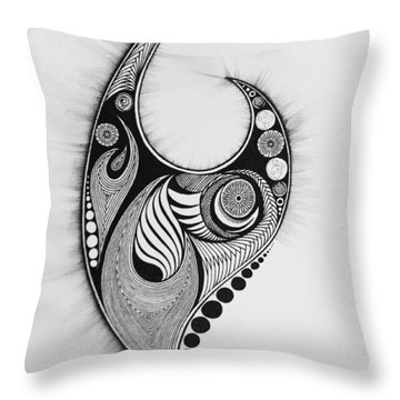 Flames And Orbs Throw Pillow by Kelly Hazel