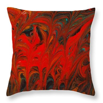 Throw Pillow featuring the painting Flames II by Carolyn Repka
