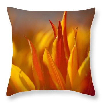 Throw Pillow featuring the photograph Flames by Inge Riis McDonald