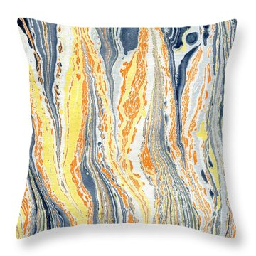 Throw Pillow featuring the painting Flames by Menega Sabidussi