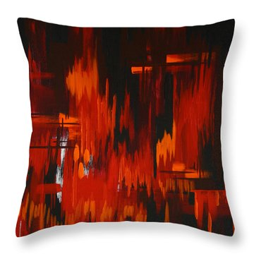 Flames Of Passion Throw Pillow