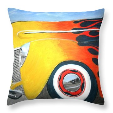 Flames Throw Pillow by Stacy C Bottoms