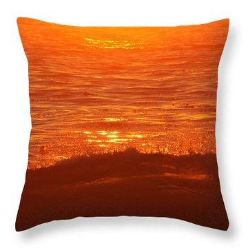 Flames With No Horizon Throw Pillow