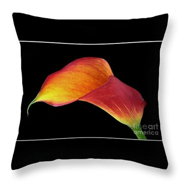 Flaming Calla Throw Pillow