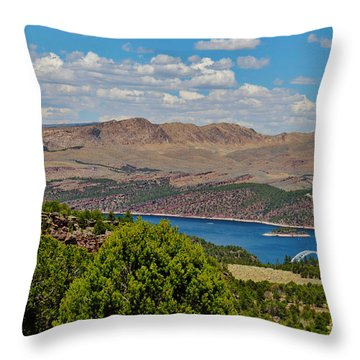 Throw Pillow featuring the photograph Flaming Gorge by Janice Rae Pariza