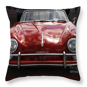 Throw Pillow featuring the photograph Flaming Red Porsche by Victoria Harrington
