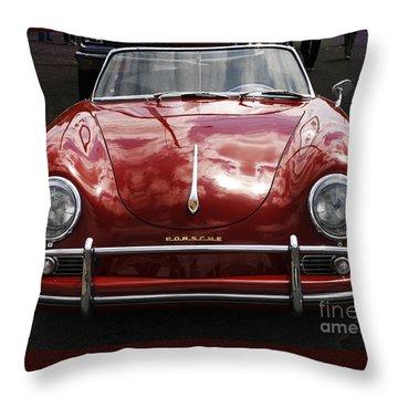 Flaming Red Porsche Throw Pillow by Victoria Harrington