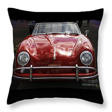 Flaming Red Porsche Throw Pillow