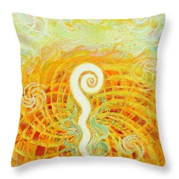 Flaming Sword Throw Pillow