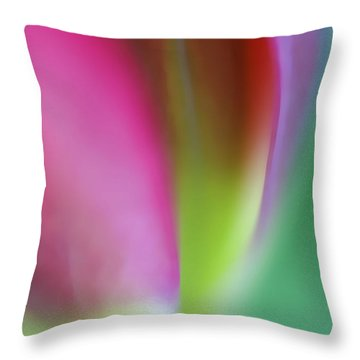 Throw Pillow featuring the photograph Flaming Tulip by Annie Snel