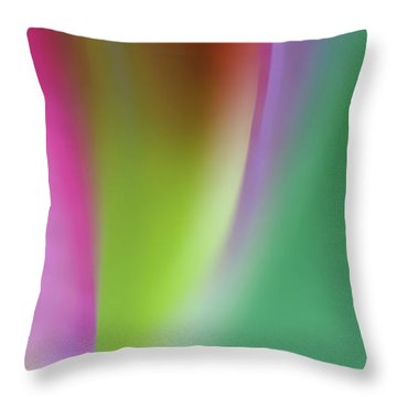Flaming Tulip Throw Pillow