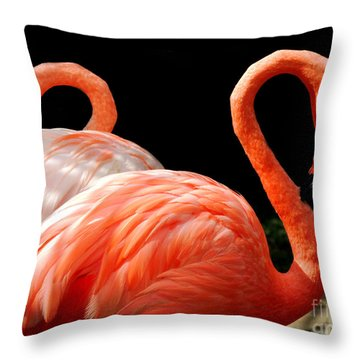 Flamingo Couple Throw Pillow