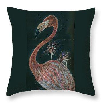 Flamingo Knees Throw Pillow