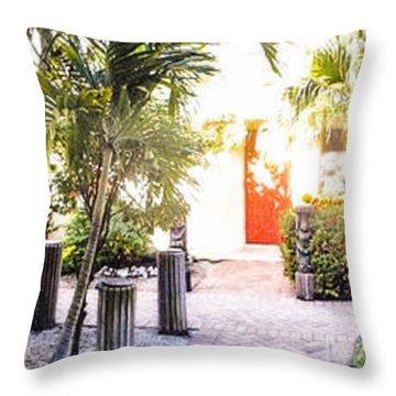Flamingo Hotel Throw Pillows