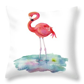 Flamingo Pose Throw Pillow