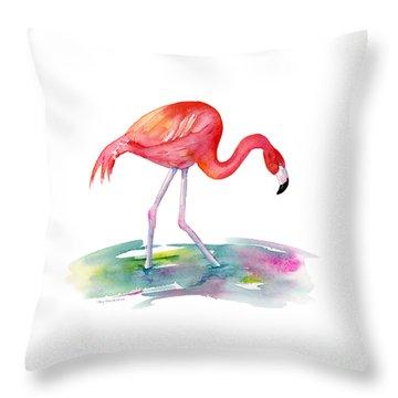 Flamingo Step Throw Pillow