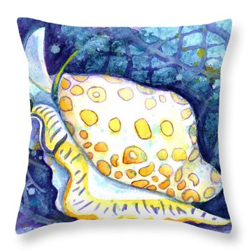 Flamingo Tongue Throw Pillow