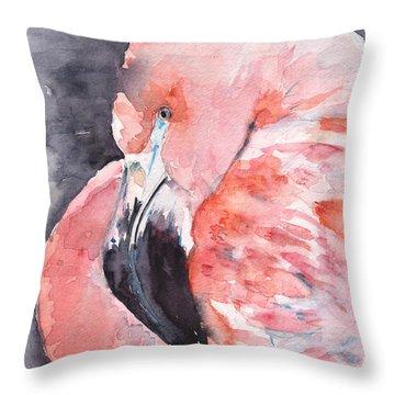 Flamingo Two Throw Pillow